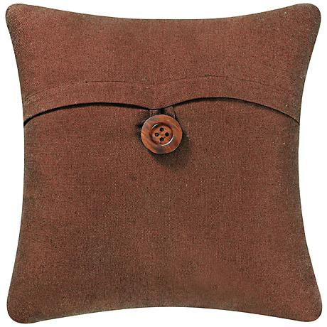 "Brown 18"" Square Envelope Throw Pillow"