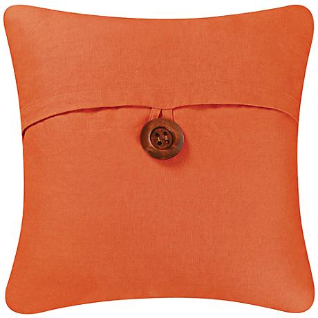 "Orange 18"" Square Envelope Throw Pillow"