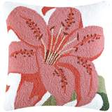 "Tiger Lily 18"" Square Floral Throw Pillow"