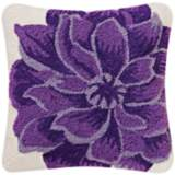 "Purple Dahlia 18"" Square Throw Pillow"