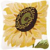 "Sunflower 18"" Square Floral Throw Pillow"