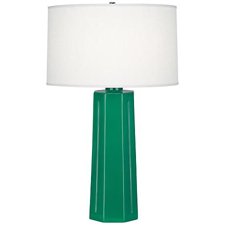 Robert Abbey Mason Glazed Emerald Table Lamp