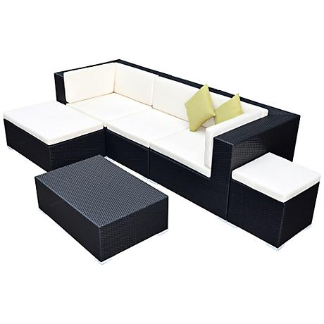 Green Outdoor 6-Piece Combo Sofa Set