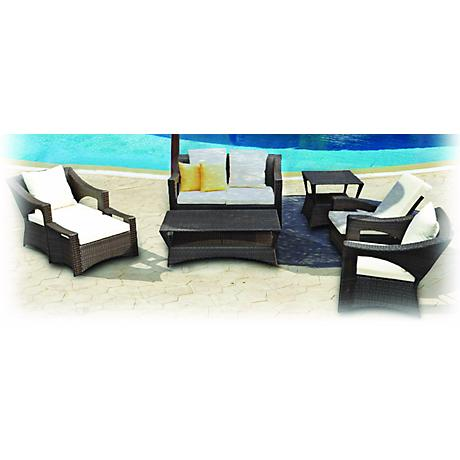 7-Piece Yellow Reclining Outdoor Patio Furniture Set