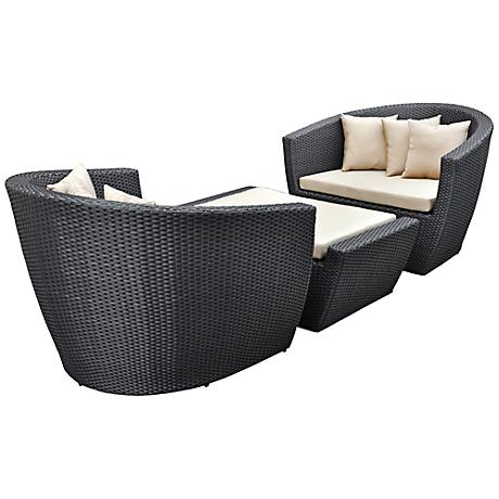 3-Piece Modular Poolside Sofa Set
