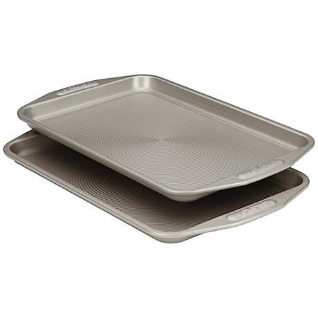 Set of 2 Circulon Gray Carbon Steel Bakeware Cookie Sheets