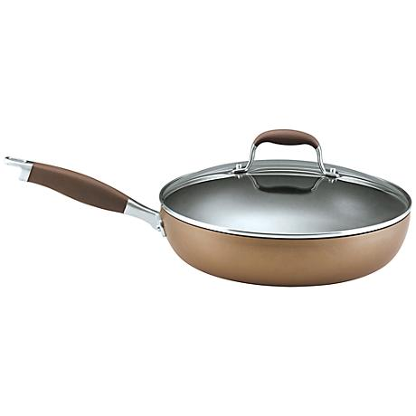"Anolon Advanced Bronze 12"" Covered Deep Skillet"