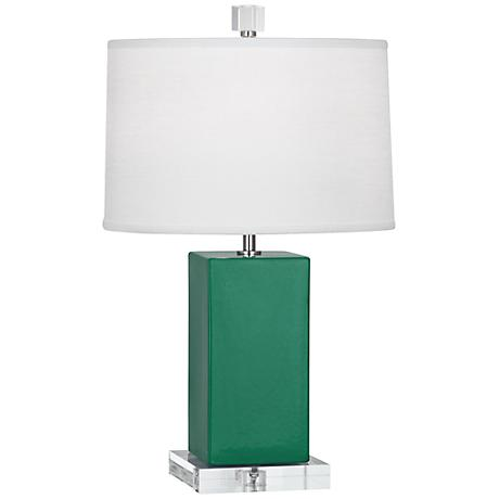 Robert Abbey Harvey Emerald Glazed Ceramic Accent Lamp