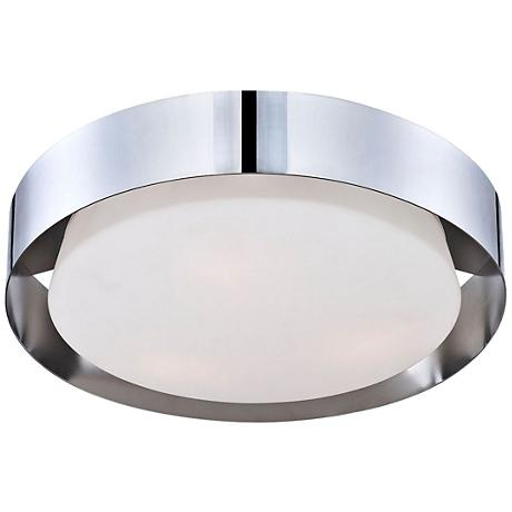 "Saturn Collection 15 1/2"" Wide Chrome Ceiling Light"