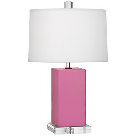 Robert Abbey Harvey Schiaparelli Pink Ceramic Accent Lamp