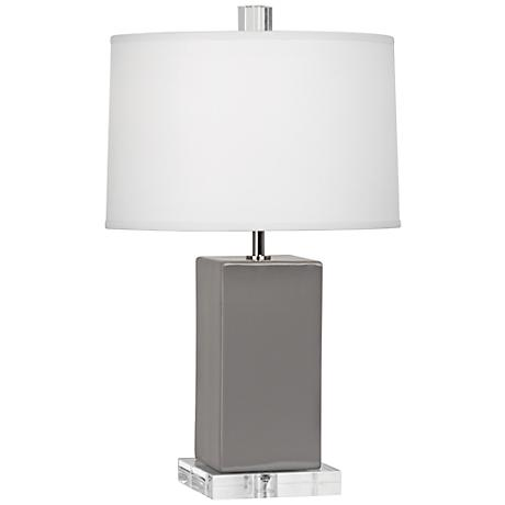 Robert Abbey Harvey Smoky Taupe Ceramic Accent Lamp