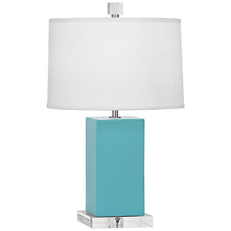 Robert Abbey Harvey Egg Blue Glazed Ceramic Accent Lamp