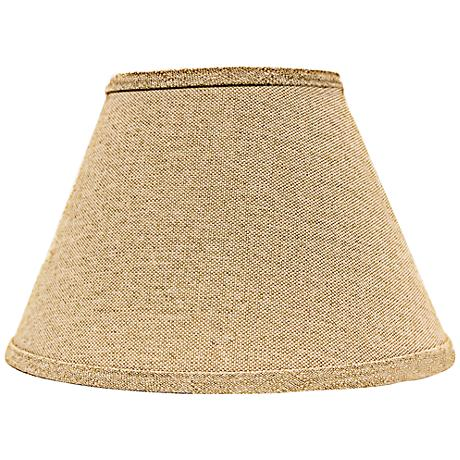 Neutral Heavy Basket Empire Lamp Shade 6x12x8 (Spider)