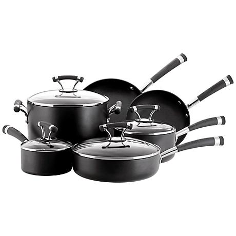 Circulon Contempo Black Aluminum 10-Piece Cookware Set