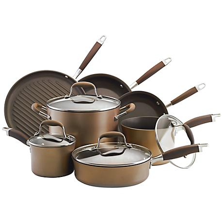 Anolon Advanced Bronze 11-Piece Cookware Set
