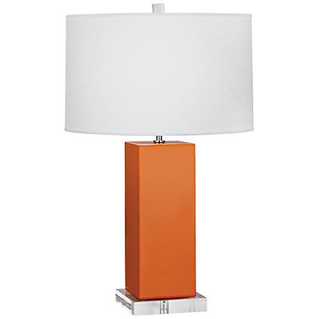 Robert Abbey Harvey Pumpkin Glazed Ceramic Table Lamp