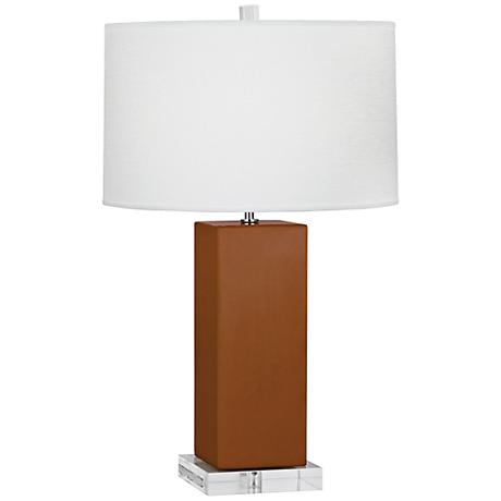 Robert Abbey Harvey Cinnamon Glazed Ceramic Table Lamp