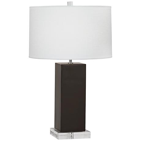 Robert Abbey Harvey Coffee Glazed Ceramic Table Lamp
