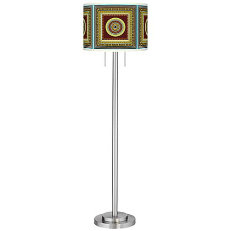 Stacy Garcia Tiber Medallion Garnet Garth Floor Lamp