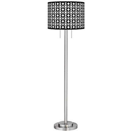 Matrix Giclee Brushed Nickel Garth Floor Lamp