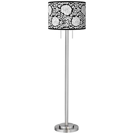 Seedling by thomaspaul Blossom Brushed Nickel Floor Lamp
