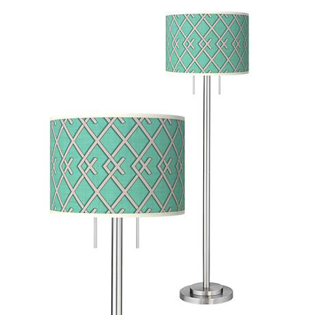 Crossings Giclee Brushed Nickel Garth Floor Lamp