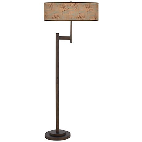 Cedar Lake Giclee Parker Light Blaster Bronze Floor Lamp