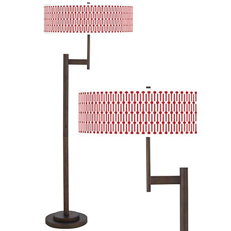 Amaze Giclee Parker Light Blaster™ Bronze Floor Lamp