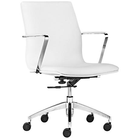 Bernard White Low-Back Office Chair