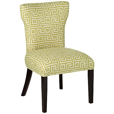 Giadii Green Geometric Pattern Dining Chair