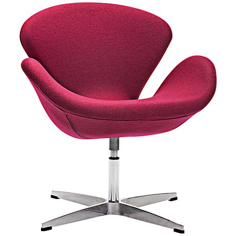 Zuo Pori Carnelian Red Arm Chair