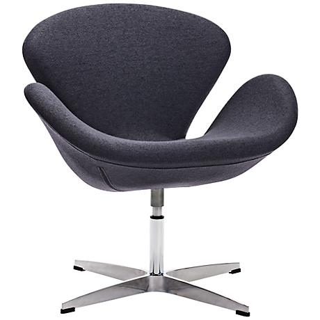 Zuo Pori Iron Gray Arm Chair