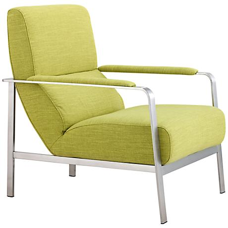 Zuo Jonkoping Lime Green Arm Chair