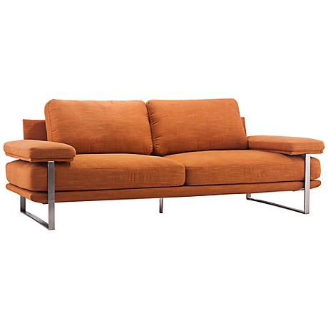 Zuo Jonkoping Orange Sofa