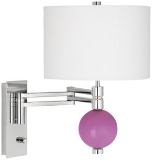 Pink Orchid Niko Swing Arm Wall Lamp (3R082-3W265-3V981) 3R082-3W265-3V981