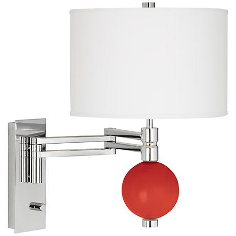 Cherry Tomato Niko Swing Arm Wall Lamp