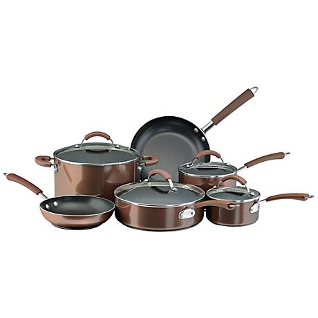 Farberware Millennium Bronze Porcelain 12-Pc Cookware Set ...