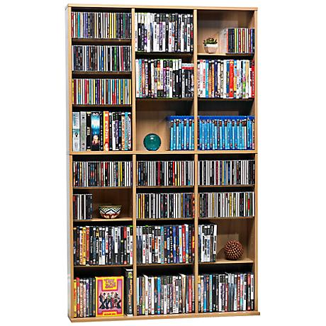 Oskar Maple 756 CD Media Storage Cabinet
