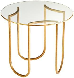 Vincente Gold Leaf Side Table (3R575) 3R575