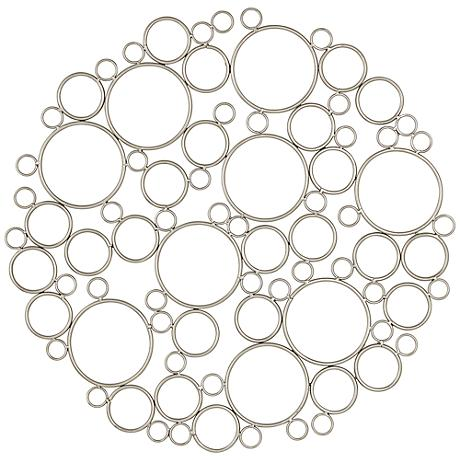 "Callie Metal Round Bubble 28"" Wide Wall Plaque"
