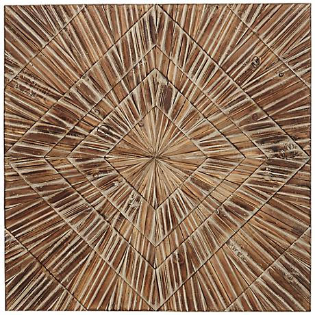 "Forestopia 23"" Square Woodburst Wall Decor"