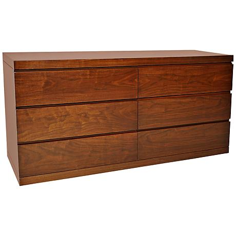 Anna Walnut Double Dresser