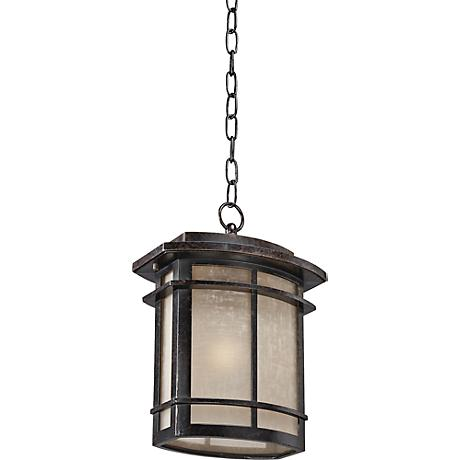 Quoizel Galen Bronze Large Outdoor Hanging Lantern
