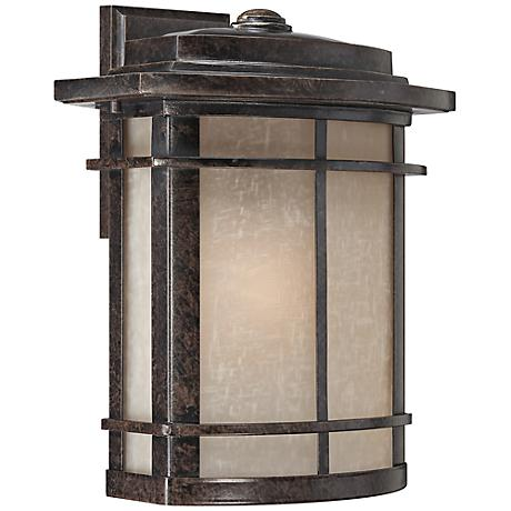 "Quoizel Galen Bronze 14"" High Outdoor Wall Lantern"