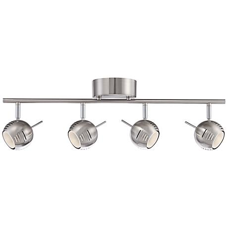 Boyce 4-Light Brushed Steel LED Track Fixture