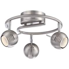 Boyce 3-Light Brushed Steel LED Track Fixture