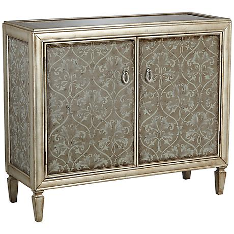 Edom Silver and Gold with Hand Applied Detail 2-Door Cabinet