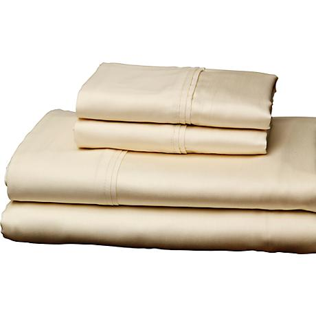 Single Ply 310 Thread Count Soothing Ivory Sheet Set