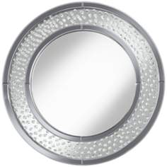 "Molini Crystals 31 1/2"" Round Wall Mirror"