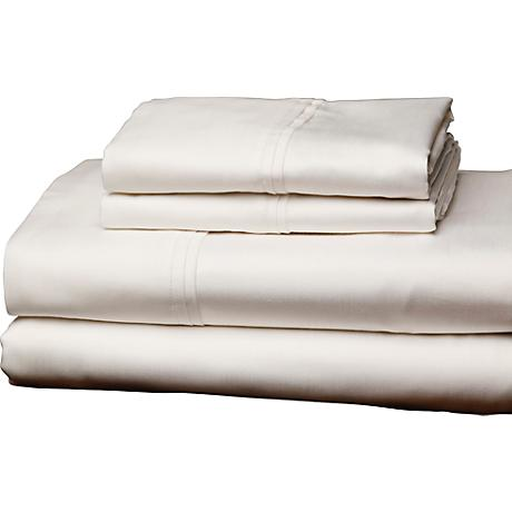 Single Ply 310 Thread Count White Sheet Set